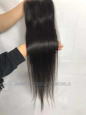 Hundred Percent Human Hair Closure   Hair Beauty for sale in Lagos State, Yaba