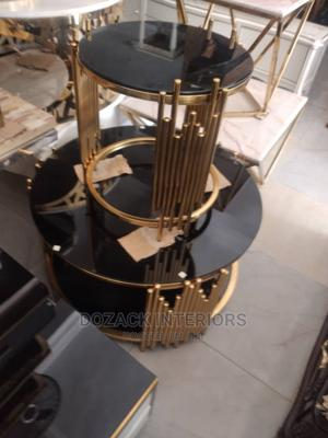 Beautiful Center Table and Stools   Furniture for sale in Lagos State, Ojo