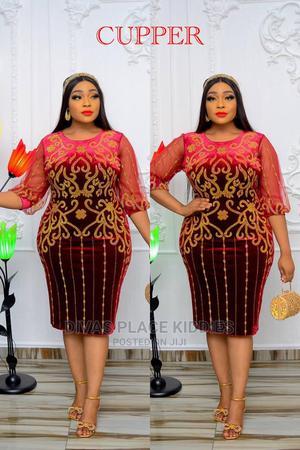 Velvet Rhinestones Short Gown | Clothing for sale in Lagos State, Ikeja