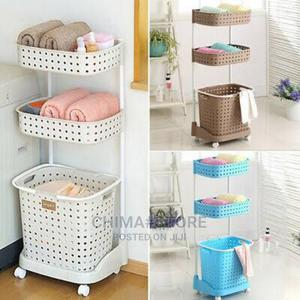 3 Tier Laundry Basket With Wheels | Home Accessories for sale in Lagos State, Ikeja