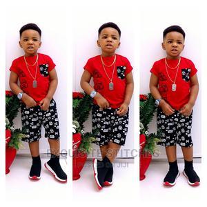 Designer Children Wears-Cute Boys 2pcs Sleeveless Tshirt Set | Children's Clothing for sale in Lagos State, Ikeja