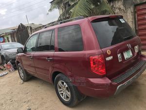 Honda Pilot 2004 EX-L 4x4 (3.5L 6cyl 5A) Red | Cars for sale in Lagos State, Gbagada