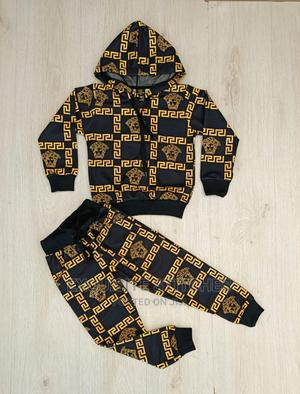 Children Wears-Classy Versace Hoodie and Joggers -Black And | Children's Clothing for sale in Lagos State, Ikeja