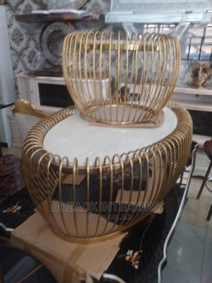 Beautiful Center Table And Stool   Furniture for sale in Lagos State, Ojo