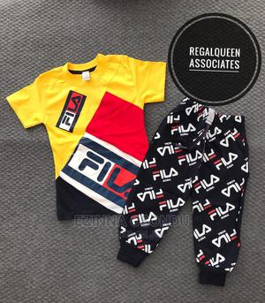 Yellow Polo and Black Trouser for Little Boys   Children's Clothing for sale in Imo State, Owerri