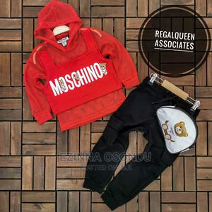 Red Hooded Long Sleeves and Black Trouser With Waist Bag   Children's Clothing for sale in Imo State, Owerri