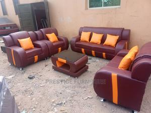 A Quality Well Made Leather Sofa With a Center Table, | Furniture for sale in Lagos State, Ikeja