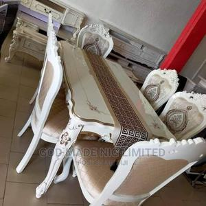 Quality Royal Wooden Dining Table With 6 Chairs   Furniture for sale in Lagos State, Surulere