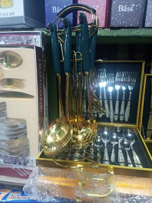 Set of Golden Cooking Spoon ,7pcs | Kitchen & Dining for sale in Lagos State, Lagos Island (Eko)