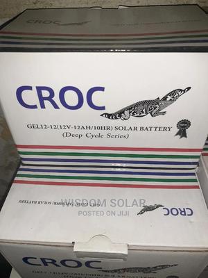 12V 12ah Croc Solar Batteries | Solar Energy for sale in Lagos State, Ikeja