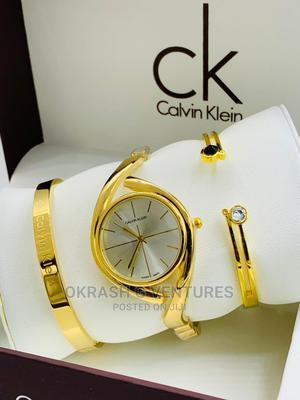 Calvin Klein (CK) Gold Set Chain Watch for Women's   Watches for sale in Lagos State, Lagos Island (Eko)