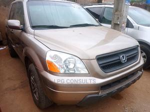 Honda Pilot 2003 EX 4x4 (3.5L 6cyl 5A) Gold | Cars for sale in Lagos State, Ikeja