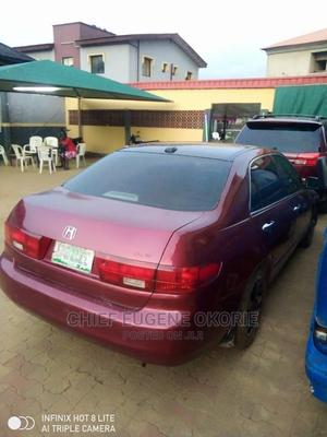Honda Accord 2005 Sedan LX V6 Automatic Red | Cars for sale in Lagos State, Ikotun/Igando