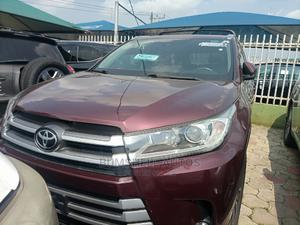 Toyota Highlander 2018 XLE 4x2 V6 (3.5L 6cyl 8A) Red | Cars for sale in Lagos State, Ikeja