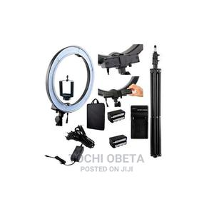 Recharale Ring Light LED 18 Inches With Battery and Stand | Accessories & Supplies for Electronics for sale in Lagos State, Ikeja