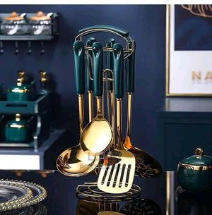 Luxury Golden Spoon Set | Kitchen & Dining for sale in Lagos State, Amuwo-Odofin