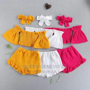 Baby Girl Off Shoulder Two Pieces   Children's Clothing for sale in Imo State, Owerri