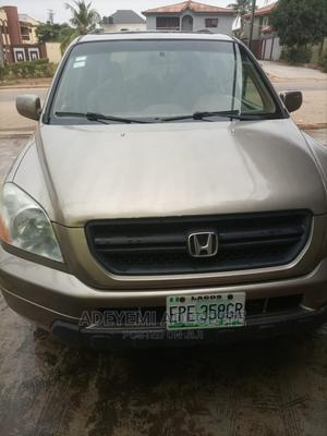 Honda Pilot 2004 EX 4x4 (3.5L 6cyl 5A) Gold   Cars for sale in Lagos State, Alimosho