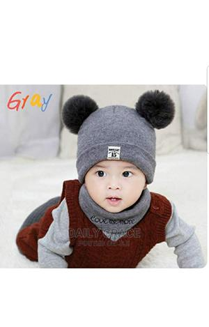 2psc Baby Beanie Caps Set And Warmer | Children's Clothing for sale in Lagos State, Ikeja