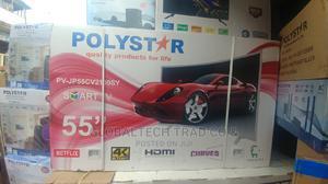 "Polystar 55"" Smart 4K UHD Curved TV PV-JP55CV2100SY | TV & DVD Equipment for sale in Lagos State, Ojo"