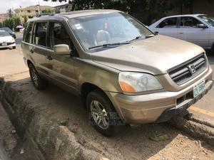 Honda Pilot 2003 EX-L 4x4 (3.5L 6cyl 5A) Gold | Cars for sale in Lagos State, Ikeja