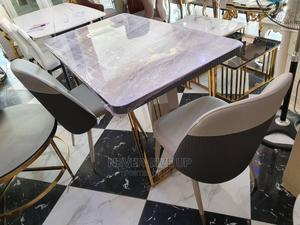 Marble Dinning Table Gold   Furniture for sale in Lagos State, Surulere