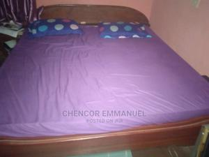 6x6 Mattress With the Wooden Bed Frame | Furniture for sale in Lagos State, Ifako-Ijaiye