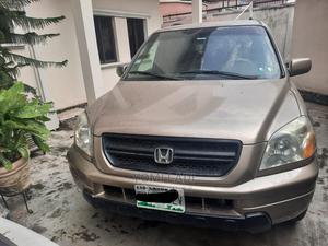 Honda Pilot 2004 EX-L 4x4 (3.5L 6cyl 5A) Gold | Cars for sale in Lagos State, Gbagada