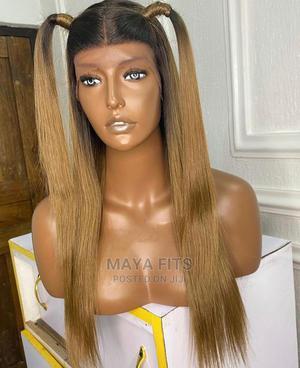 Frontal Human Hair Blend Wig   Hair Beauty for sale in Enugu State, Enugu