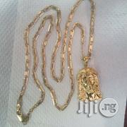 Pure ITALY 750 Tested 18karat Gold Necklace Blade Belt Wit Jesus | Jewelry for sale in Lagos State, Lagos Island