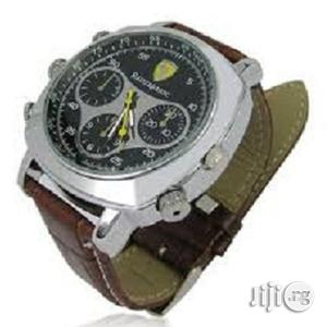 8GB Spy Camera Leather Wrist Watch   Security & Surveillance for sale in Lagos State, Ikeja