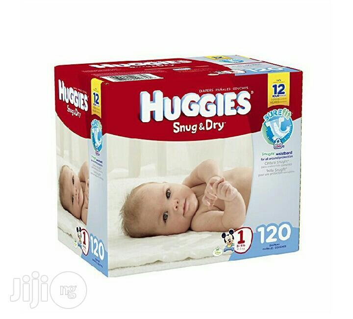 Huggies Snug N Dry Size 1 (120ctn) | Baby & Child Care for sale in Ikeja, Lagos State, Nigeria