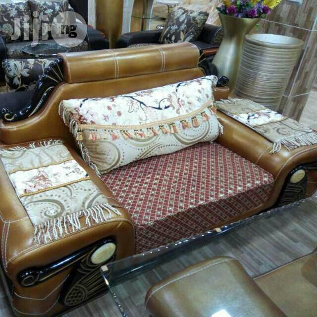 Italian Leather Executive Sofa Chair Coffee Brown