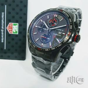 Tag Heuer Senna Carrrera Chronogold Black Watch   Watches for sale in Lagos State, Oshodi
