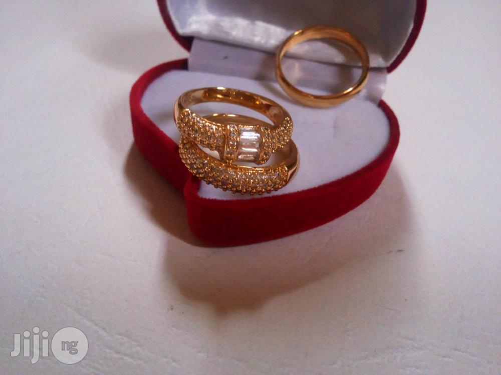 Leyla Williams Gold Engagement and Wedding Ring