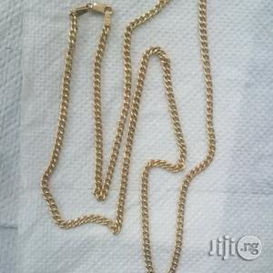 Pure ITALY 750 Solid 18krt Gold Cuban Medium Size Design   Jewelry for sale in Lagos State, Lagos Island (Eko)