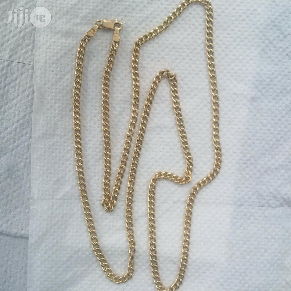 Pure ITALY 750 Solid 18krt Gold Cuban Medium Size Design | Jewelry for sale in Lagos Island (Eko), Lagos State, Nigeria
