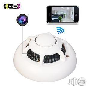UFO Wifi Smoke Detector Spy Camera P2P With Inbuild Battery | Security & Surveillance for sale in Lagos State, Ikeja