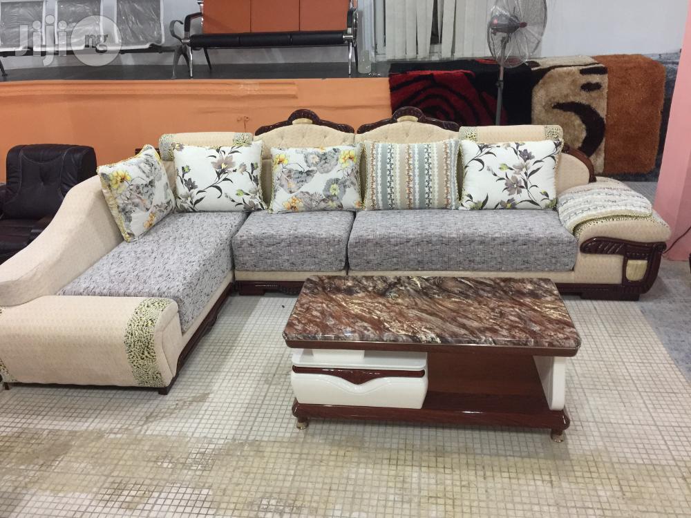Archive: Royal L Sharp Fabric Sofa