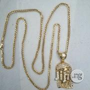 Brand New Italy 750 Tested 18krt Franco Design Gold Wit Jesus Piece | Jewelry for sale in Lagos State, Lagos Island