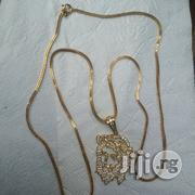 Tested 18kart Gold Necklace Fraco Robe Design With Jesus Piece Shadow | Jewelry for sale in Lagos State, Lagos Island