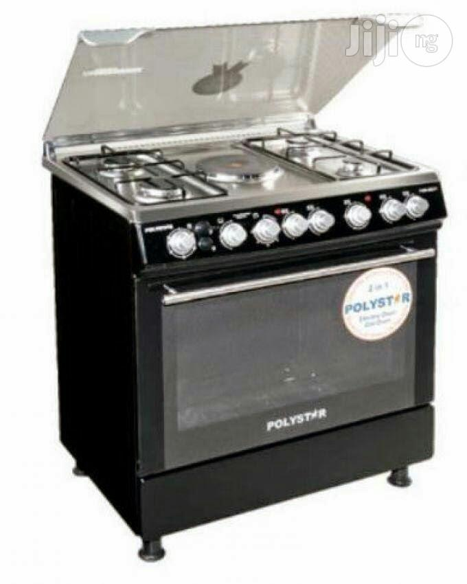 Polystar Standing Gas Cooker 4 Gas 1 Electric Bornner With Oven
