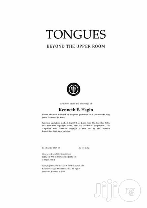 Tongues Beyond The Upper Room By Kenneth E. Hagin   Books & Games for sale in Apapa, Lagos State, Nigeria