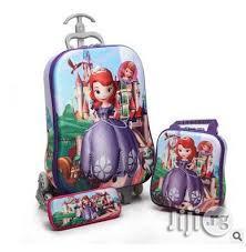 Children Character Trolley School Bag Cinderella(Wholesale) | Babies & Kids Accessories for sale in Lagos State, Ikeja