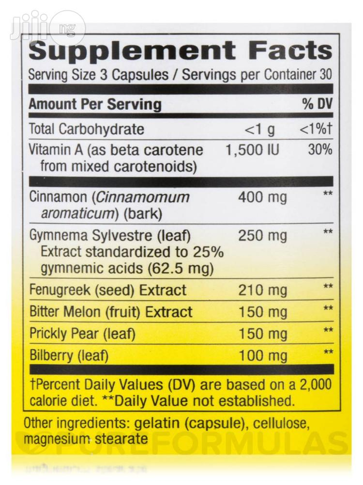 Blood Sugar Metabolism Blend With Cinnamon And Gymnema For Diabetes   Vitamins & Supplements for sale in Lekki, Lagos State, Nigeria