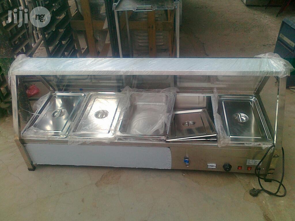 5 Plate Food Display Warmer