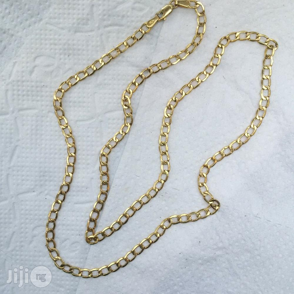 Pure Italy 750 Solid 18krt Gold Cuban Short Length Design   Jewelry for sale in Lagos Island (Eko), Lagos State, Nigeria