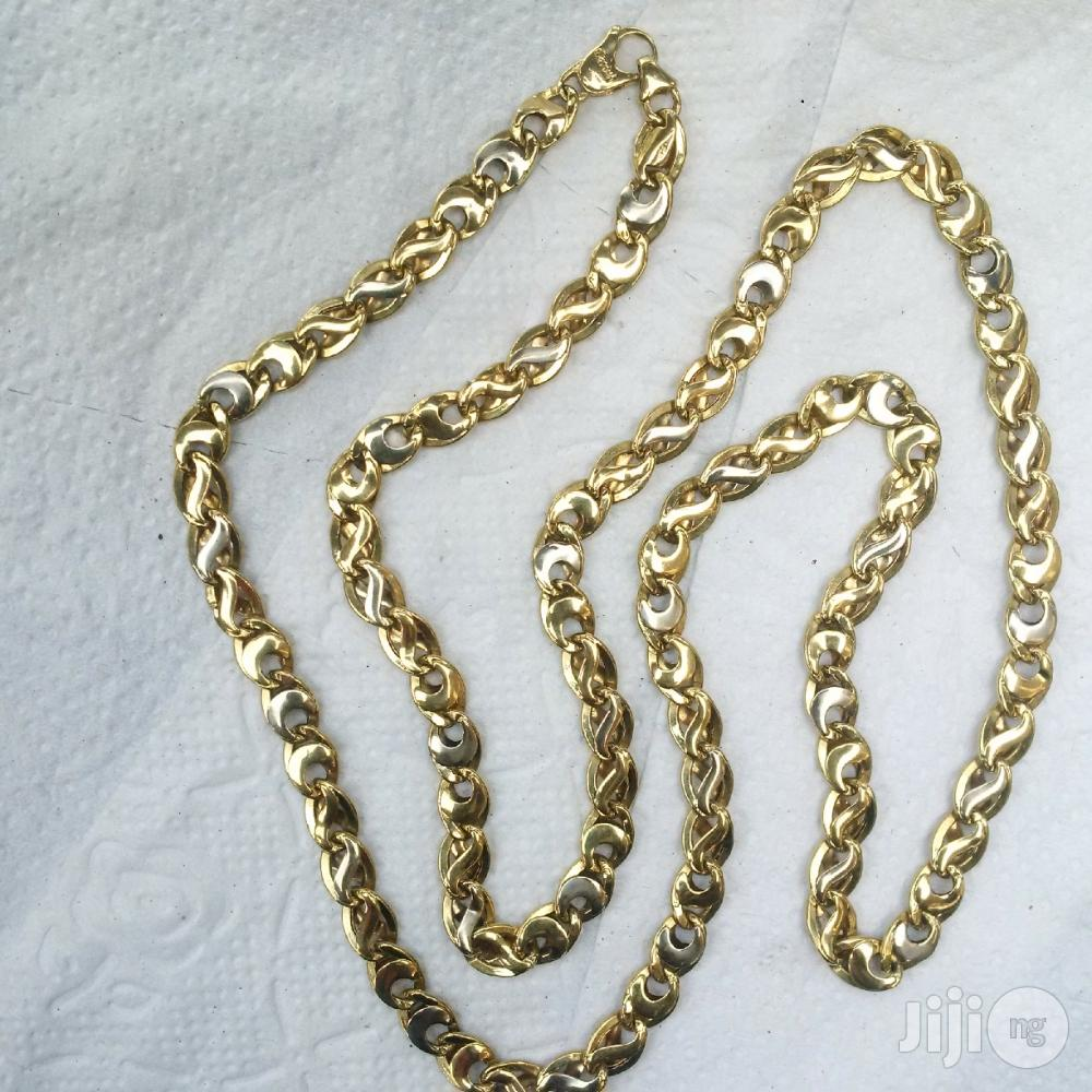 Tested 18karat Solid Gold Necklace Military Belt Design | Jewelry for sale in Lagos Island (Eko), Lagos State, Nigeria