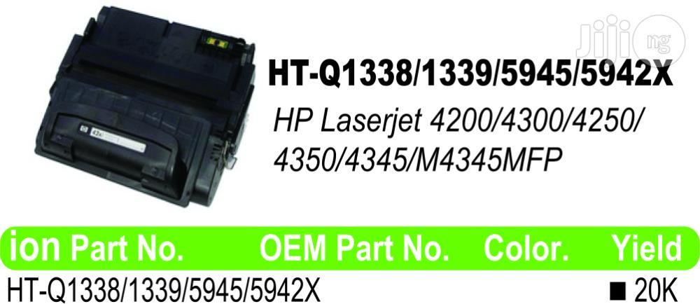 Ion Original HP Compatible Q1339A(39A) Black Printer Toner Cartridge