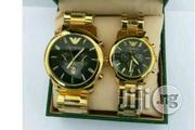 Emporio Armani Gold Chain Couples Wristwatch | Watches for sale in Lagos State